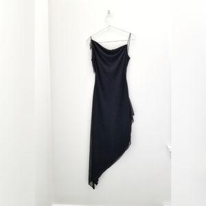 Vintage 90's asymmetrical backless dress